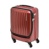 フリクエンター クラム アドバンス ストッパー付4輪キャリー(前開き)1−216 34L ワイン│スーツケース・旅行かばん スーツケース