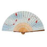 山二 婦人扇子セット 1055S 涼み ブルー│夏物雑貨 扇子・うちわ(団扇)