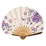 山二 婦人扇子セット 1088S 彩桜 パープル│夏物雑貨 扇子・うちわ(団扇)
