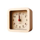 ヤマト工芸 ROUND CLOCK 置き時計 YK15−104 ブラウン