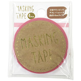 ワールドクラフト マスキングテープ 4mm W02-MK-T0065 パステルピンク
