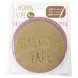 ワールドクラフト マスキングテープ 4mm W02-MK-T0071 ストライプ ピンク×パープル