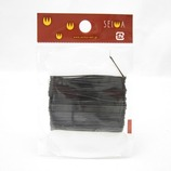 誠和 スーパースムース糸 黒 0.6ミリ│レザークラフト用品 皮革用糸・ロウ引き糸