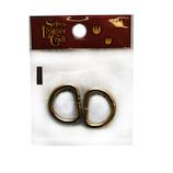 誠和 ブラス Dカン B 内径約16mm 2個入│レザークラフト用品 皮革用金具