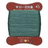 誠和 ダブルロービキ糸 ポリエステル 5番手 25m巻 ビリジアン│レザークラフト用品 皮革用糸・ロウ引き糸