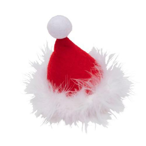 【クリスマス】 サンタ帽ヘアピン