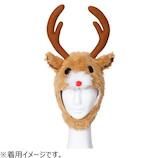 【クリスマス】 クリアストーン もふもふトナカイ