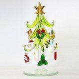 【クリスマス】 クリスマスファクトリー オーナメントガラスツリー 17390 グリーン