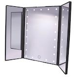 F.K.Solutions LEDミラーダブルドアSD ブラック│照明器具 卓上照明
