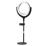 DEVIA LED Ring Light 8インチ ブラック│照明器具 スポットライト・クリップライト