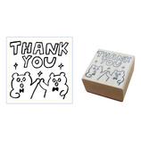 AIUEO STAMP くまちゃん THANK YOU ASP−09
