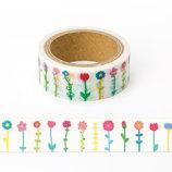 いろは出版 マスキングテープ ストレート AMT-19 flower colorful(フラワーカラフル)