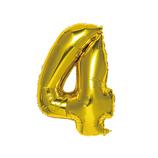 いろは出版 ナンバーバルーン [4] SFNG-04 ゴールド│パーティーグッズ 風船・バルーン