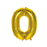 いろは出版 ナンバーバルーン [0] SFNG-10 ゴールド│パーティーグッズ 風船・バルーン