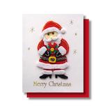 【クリスマス】 リーフワークカンパニー クリスマスミニカード フェルトサンタ