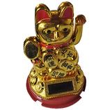 服部貿易 新ソーラー手招き猫 小 金│雑貨 招き猫・だるま