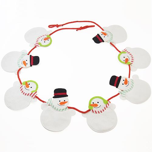 【クリスマス】 亜細亜貿易 スノーマンガーランド QA23592
