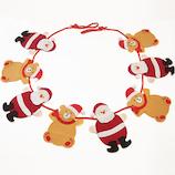 【クリスマス】 亜細亜貿易 サンタ&ベアー8Pガーランド SD32431
