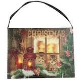 【クリスマス】 クリスマスピクチャーライト キャット IA33739