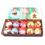 【クリスマス】 クリスマスデコプリントボール SJ34804