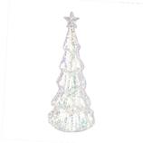【クリスマス】 ガラスツリーライトスタンド YD36129