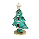 【クリスマス】 ファブリックツリー IA37166/GR
