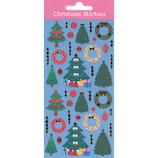 【クリスマス】 S&Cコーポレーション クリスマス ミニステッカー クリスマスツリーとリース XLA45