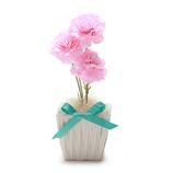 シエル 光触媒カーネーション MD−H−001 ピンク│花材 造花・アートフラワー