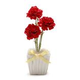 シエル 光触媒カーネーション MD−H−002 レッド│花材 造花・アートフラワー