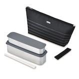 サーモス(THERMOS) フレッシュランチボックス DSA-804W ブラックボーダー│お弁当箱 弁当箱