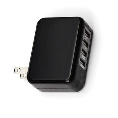 PGA USB電源アダプタ4ポート 4.8A PG-UAC48A02BK ブラック