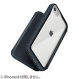 【iPhoneSE(第2世代)/8/7/6s/6】 PGA ガラスフリップケース PG-20MGF01BK ブラック│携帯・スマホケース iPhoneケース