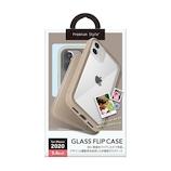 【iPhone12mini】 PGA ガラスフリップケース ベージュ
