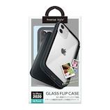 【iPhone12/12Pro】 PGA ガラスフリップケース ブラック