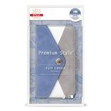 【iPhone8/7/6s/6】 PGA PremiumStyle フリップカバー レター型ポケット PG-17MFP80BL ブルー