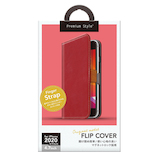 【iPhoneSE(第2世代)】 PGA フリップカバー PG-20MFP01RD レッド
