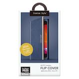 【iPhoneSE(第2世代)】 PGA PUレザーフリップカバー PG-20MFP08NV ネイビー