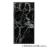 【iPhoneX】 EYLEスクエア型ケース TILE 大理石 ブラック