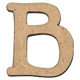 木製アルファベット 切り文字ベーシック大 B AGF-01B