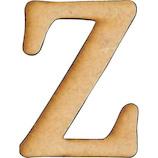 木製アルファベット 切り文字ベーシック大 Z AGF-01Z