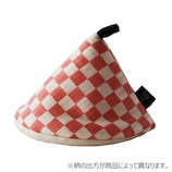 &NE 三角鍋つかみ NHK−048 IMPK/市松ピンク