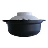 &NE らくチン!レンジ鍋 Recopo ブラック│電子レンジ用品 電子レンジ調理器