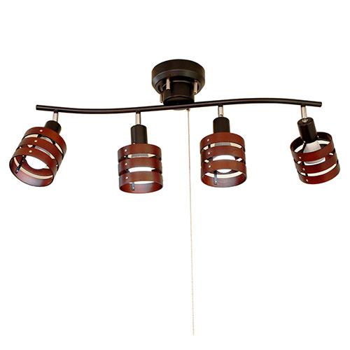 ソレイユ 4灯シーリングライトセット ブラック TTS−18BKSET