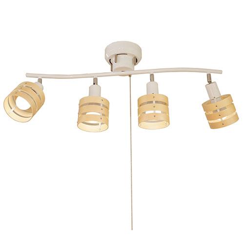 ソレイユ 4灯シーリングライトセット ホワイト TTS−18WHSET