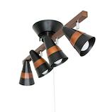 トゥルーロ 4灯シーリングセット ブラック