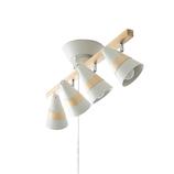 トゥルーロ 4灯シーリングセット ホワイト
