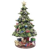 【クリスマス】 クリスマスファクトリー 回転式ツリーオルゴール 14055
