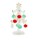 【クリスマス】 クリスマスファクトリー ガラスツリー 13cm クリスタルボール 15421
