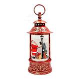【クリスマス】 クリスマスファクトリー 円筒ランタン型 LED サンタ 21002 レッド