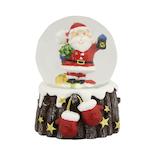 【クリスマス】 クリスマスファクトリー ウォータードーム 45mm 手袋サンタ 21130